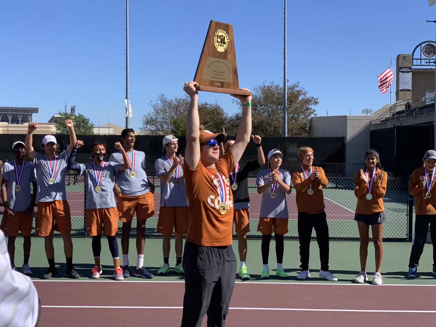 Varsity+Tennis+Reclaims+State+Title+10-3+over+Plano+West+to+Conclude+Momentous+Fall+Season