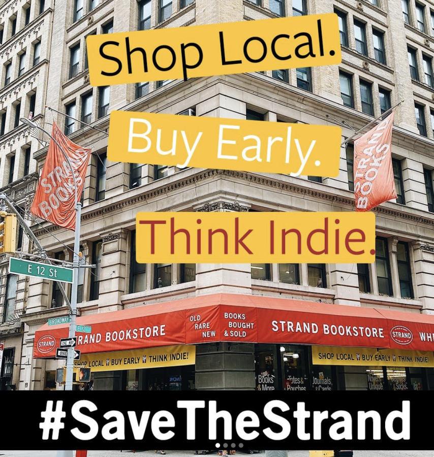 The+Strand+Book+Store+is+an+iconic+New+York+City+establishment%2C+but+has+found+itself+struggling+to+survive+during+the+pandemic.+When+the+store%27s+owner%2C+Nancy+Bass+Wyden%2C+issued+a+call+for+help%2C+readers+showed+up+in+droves%2C+spurring+the+viral+movement+%23SaveTheStrand.+Photo+courtesy+of+%0A%40strandbookstore.