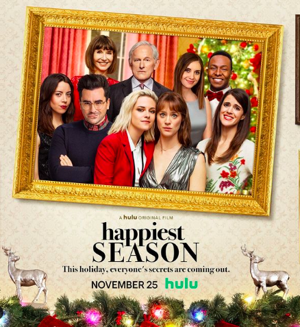 'Happiest Season' featuring Kristen Stewart and Mackenzie Davis was released on Thursday, Nov. 25. Photo courtesy of @happiestseason.