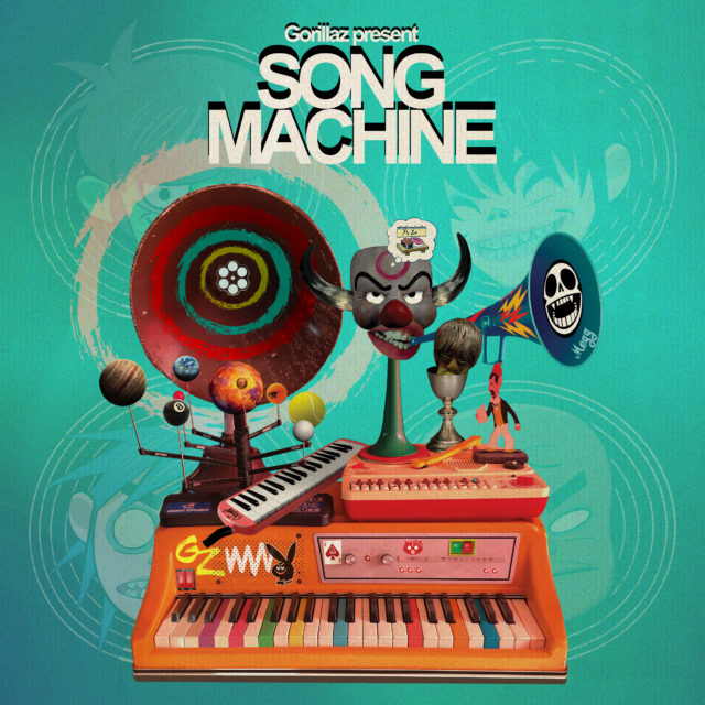 British animated musical group Gorillaz released their seventh studio album, an experimental audiovisual project titled 'Song Machine, Season One: Strange Timez,' on Friday, Oct. 23. Photo courtesy of Stereogum.