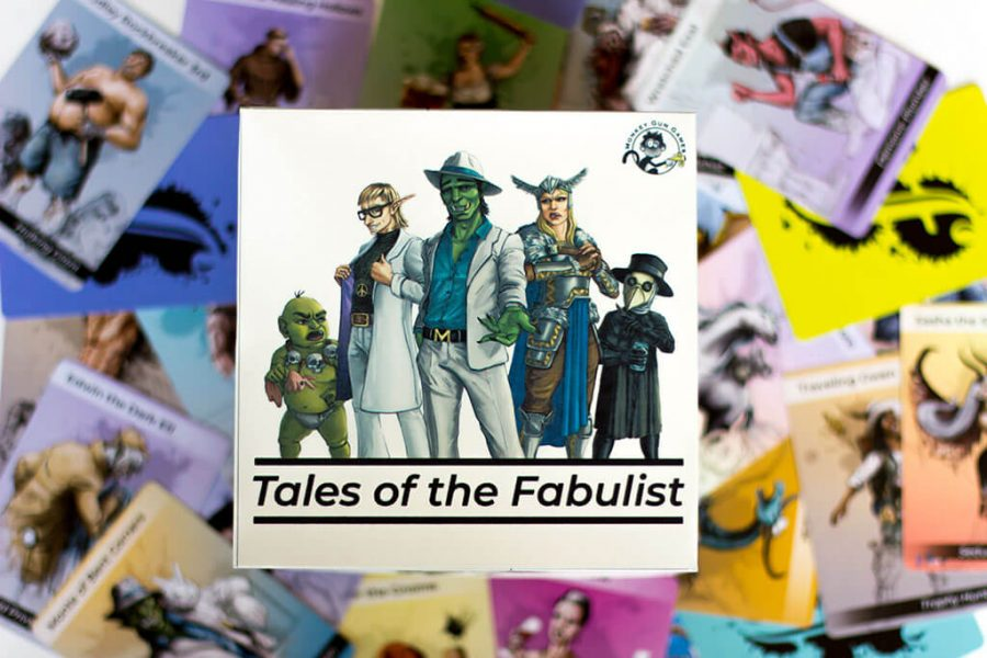 Tales of the Fabulist, a game created by Catherine Hughes '22 and her family, combines many elements for a fast-paced and humorous card game. Photo courtesy of Catherine Hughes.