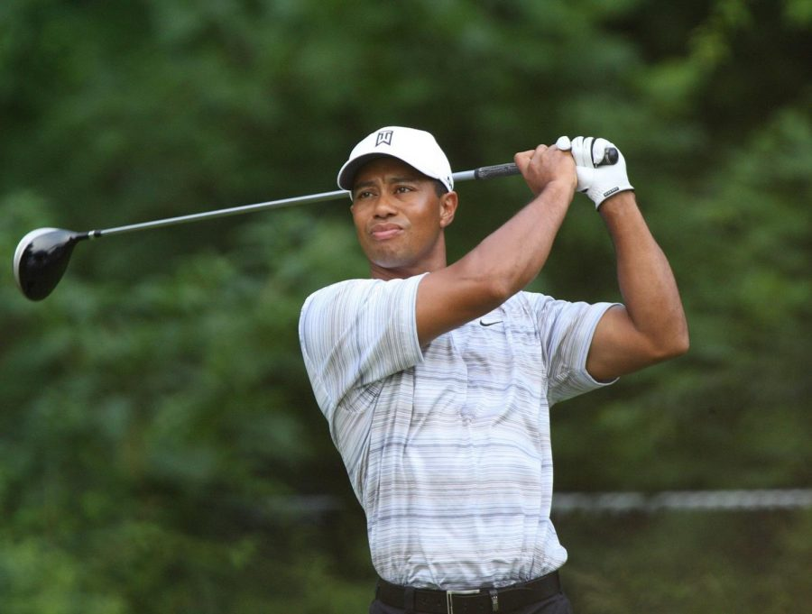 Tiger Woods approaches a shot at the Congressional Country Club in Bethesda, Maryland on July 4, 2007. One of golf's most recognizable stars, Woods was involved in a brutal car crash on Tuesday, Feb. 23. Photo courtesy of Keith Allison.