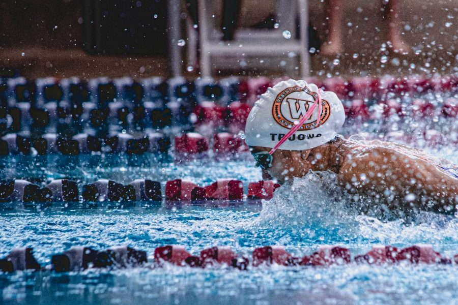 KyAnh Truong '21 takes first in the 100-yard butterfly with a time of 55.02 seconds. With this time, Truong is seeded third for state, within .04 seconds of the first seed.