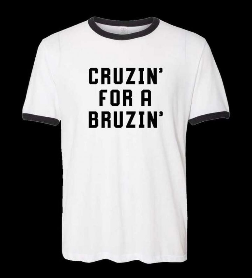 "Kacey Musgraves began selling shirts with the words ""CRUZIN FOR A BRUZIN"" stamped on them as a way to help out Texans who had suffered from power outages and the loss of water while also calling out Sen. Ted Cruz for his inexcusable trip to Cancún, Mexico. She was able to raise over $100,000. Photo courtesy of @KaceyMusgraves"