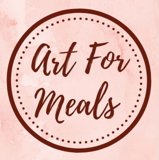 Artformeals is an online shop that sells artwork made by volunteers to raise money for World Central Kitchen, an organization that provides emergency food relief to communities around the world that are impacted by disaster. Photo courtesy of Artformeals.