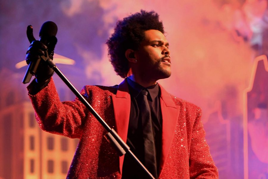 The+Weeknd+highlighted+the+Super+Bowl+LV+halftime+show+on+Sunday%2C+Feb.+7+with+his+unique+stage+presence.+However%2C+the+performance%2C+while+being+a+major+step+in+The+Weeknd%27s+career%2C+was+not+his+best.+Photo+courtesy+of+Getty+Images.