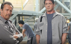 Arnold Swarzenegger and Sylvester Stallone flop in action movie 'Escape Plan'.  Photo courtesy of Screen Crush