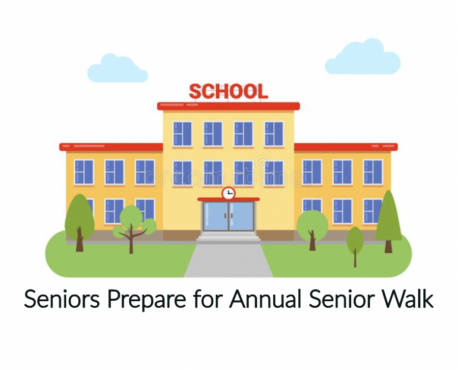 Seniors will participate in the annual senior walk to feeder elementary and middle schools on Tuesday, May 25, and Wednesday, May 26.