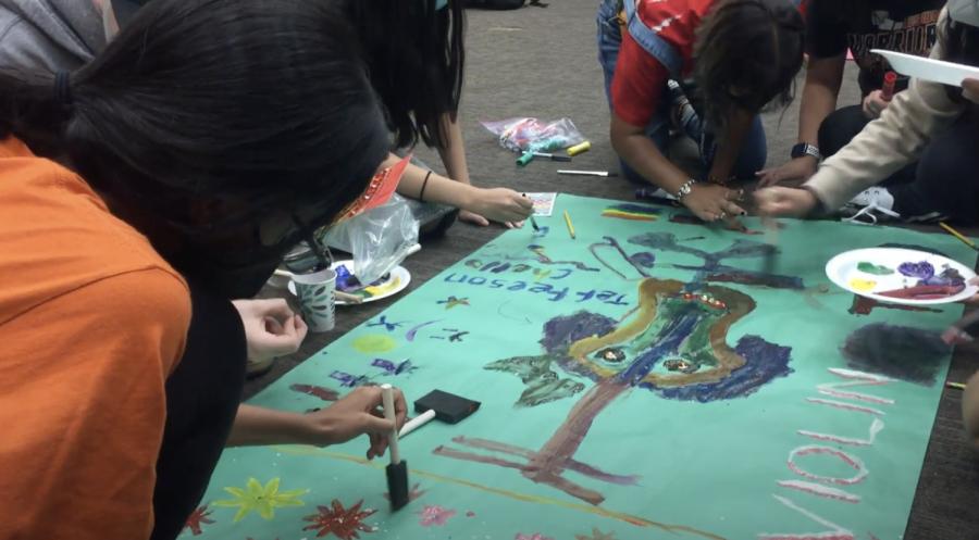 Sanjana Alluri 25 paints onto the second violin poster