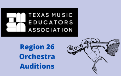 Orchestra students auditioned for the Texas Music Educators Association (TMEA) All-Region orchestras on Friday, Oct. 15 and Saturday, Oct. 16. Graphic by Riya Patil.