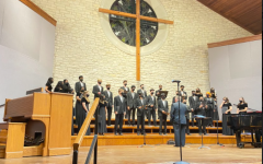 Varsity choir, or Chamber Choir, brought the house down with their closing performance. The choir performed The Last Words of David by Randall Thompson, Sing Me to Heaven by Daniel Gawthrop, and When the Earth Stands Still by Don MacDonald.