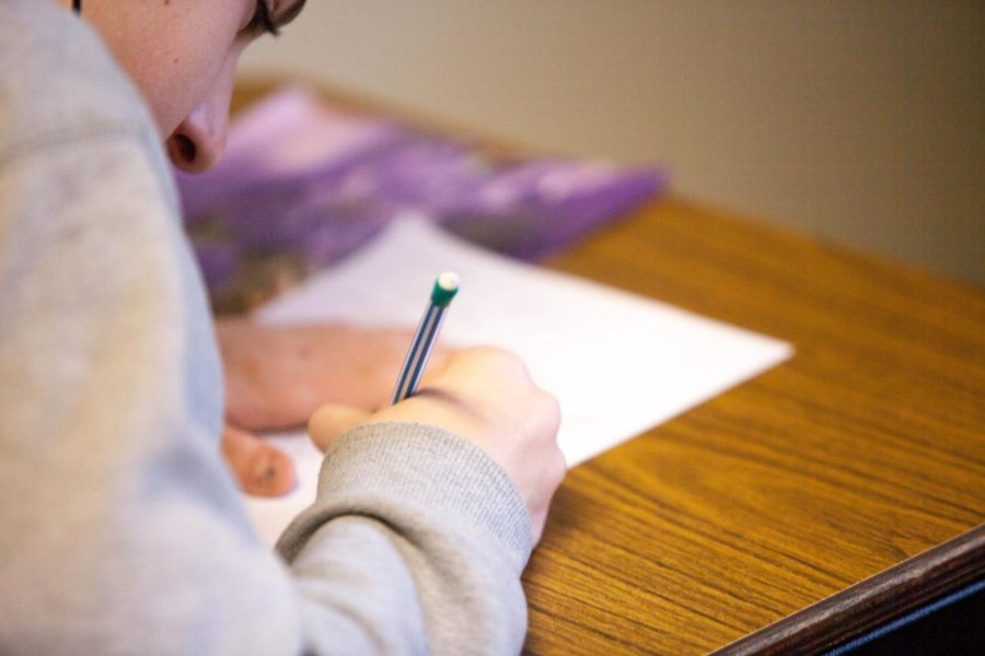 Sophomores and Juniors across the school took the PSAT test on Wednesday, Oct. 13. Photo courtesy of Ben Mullins